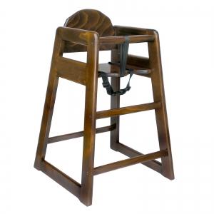 Simplex walnut high chair